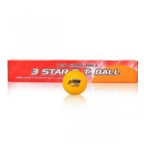 DHS ITTF Approved 3-Star 40mm Table Tennis Balls, 6-Pack (White/