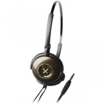 Audio Technica ATH-FW3BW Button Style On-Ear Headphones, Brown